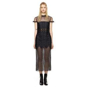 SELF-PORTRAIT Evie Midi Lace Casual Maxi Dress 4